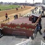 View from close to the Winners' Circle at Pimlico's Opening Weekend 2013