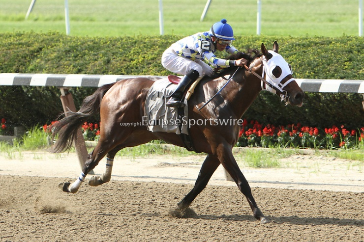 Moreno wins the Dwyer Stakes at Belmont Park