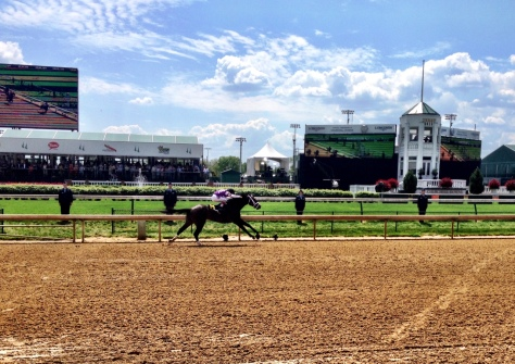 Competitive Edge takes the Pat Day Mile at Churchill Downs (John Cox photo)