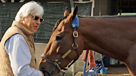 Bob Baffert and American Pharoah (Garry Jones Photo)