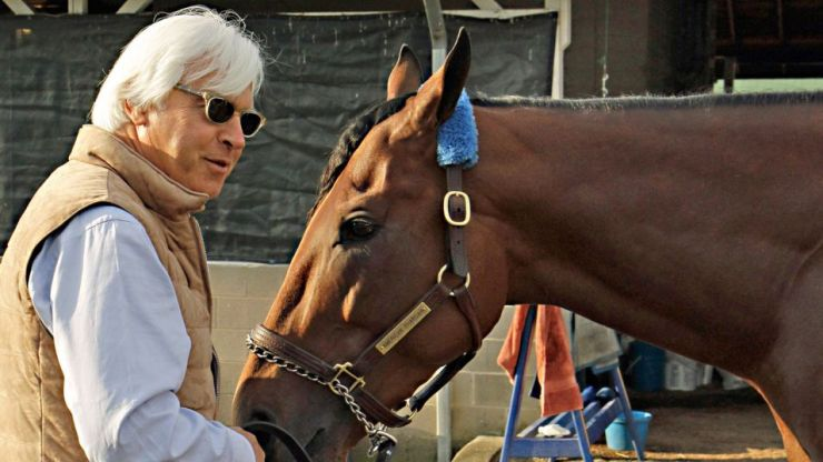 Bob Baffert and American Pharoah (Garry Jones Photo)